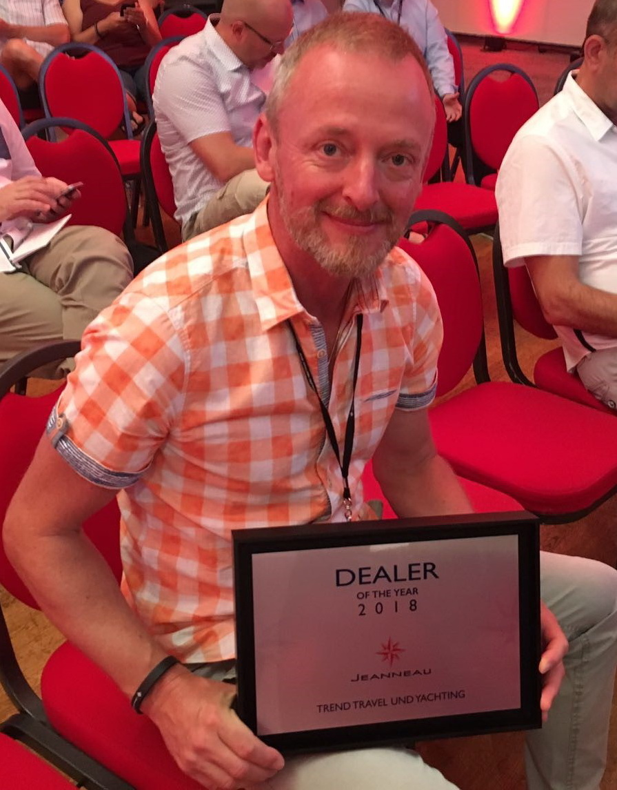 Trend Travel Yachting Jeanneau Dealer of the year 2018