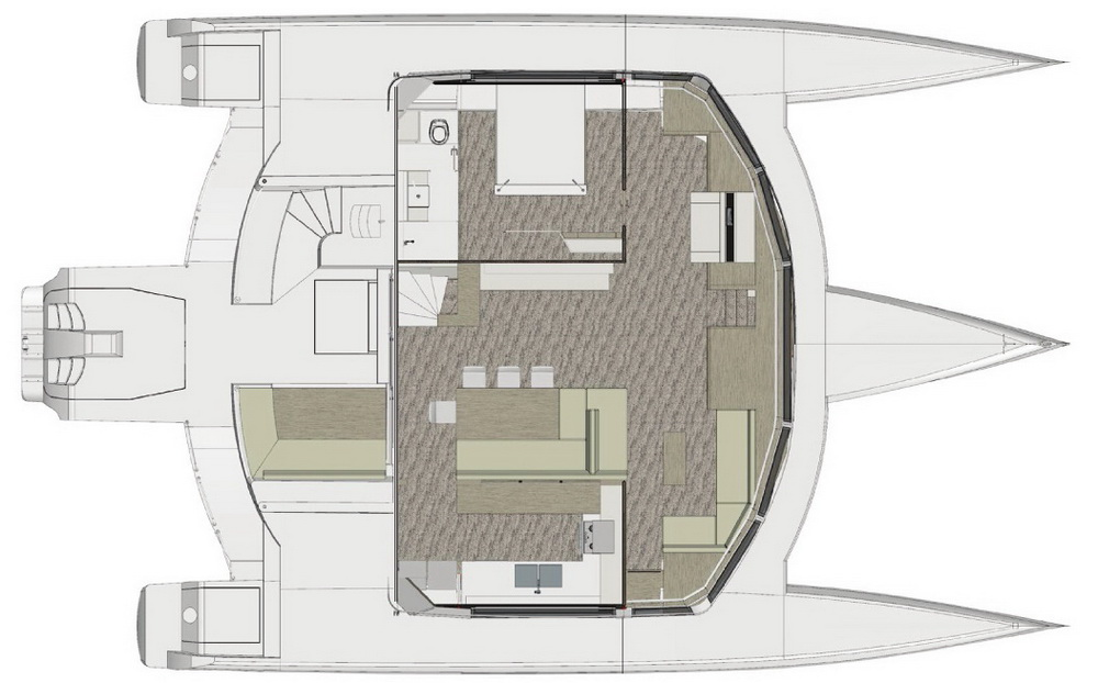 Grundriss Eignerkabine Neel 65 Evolution Trend Travel Yachting