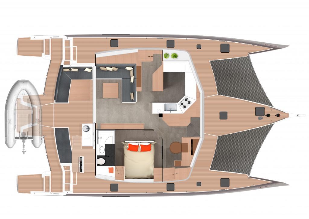 Neel 51 Grundriss Salon Trend Travel Yachting