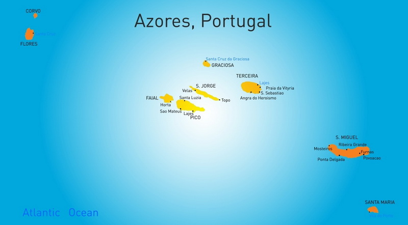 Azoren Karte.Azoren Trend Travel Yachting