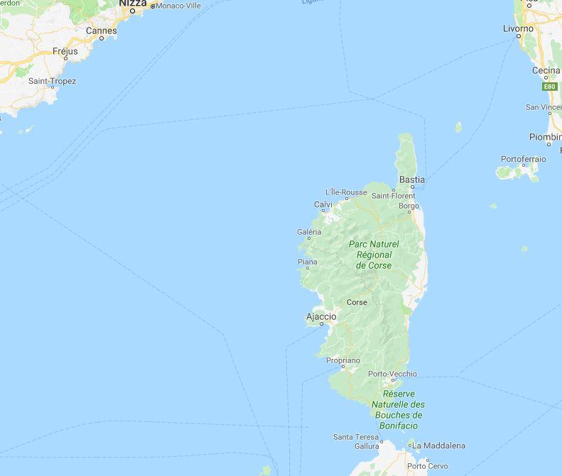 Trend Travel Yachting Charter Korsika - Revierkarte