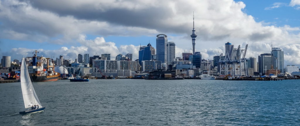Trend Travel Yachting Neuseeland, Blick auf Auckland