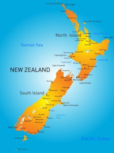 Trend Travel Yachting Neuseeland - Revierkarte