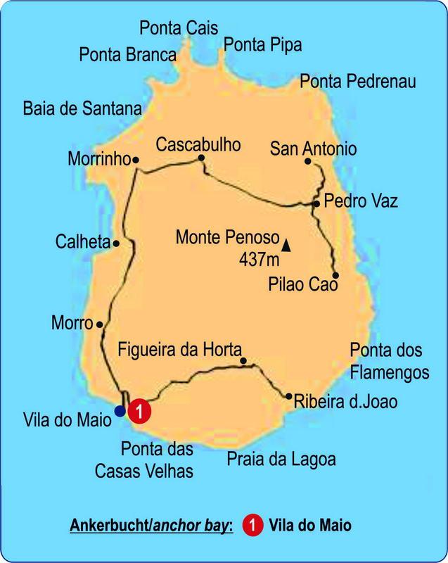 Trend Travel Yachting Segeln Karte Maio