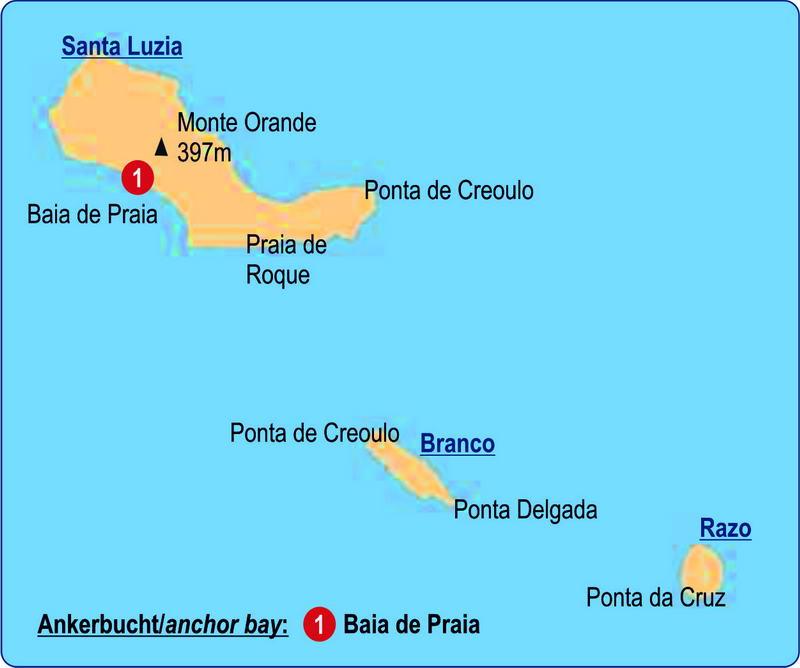 Trend Travel Yachting Segeln Karte Santa Luzia