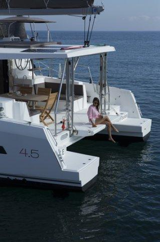 Trend Travel Yachting, Bali 4.5 Katamaran, Heck Plattform