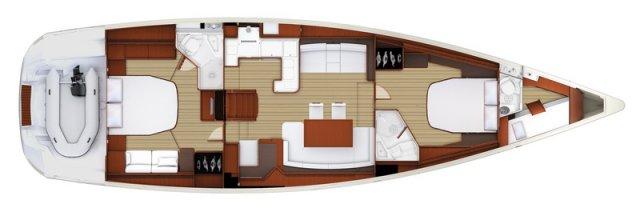 Trend Travel Yachting, Jeanneau Yacht 58. Kaufen oder Chartern beim Charterspezialist weltweit. Grundriss (4)