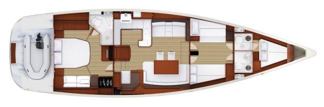 Trend Travel Yachting, Jeanneau Yacht 58. Kaufen oder Chartern beim Charterspezialist weltweit. Grundriss (3)