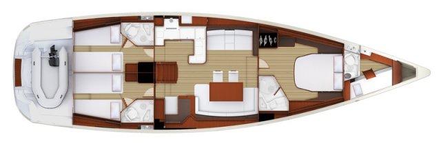 Trend Travel Yachting, Jeanneau Yacht 58. Kaufen oder Chartern beim Charterspezialist weltweit. Grundriss (2)