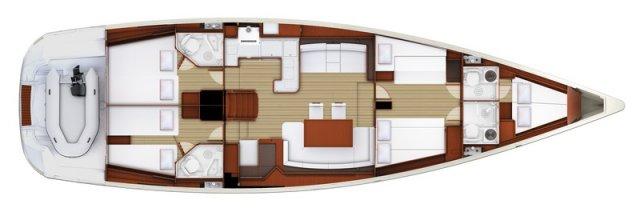 Trend Travel Yachting, Jeanneau Yacht 58. Kaufen oder Chartern beim Charterspezialist weltweit. Grundriss (1)