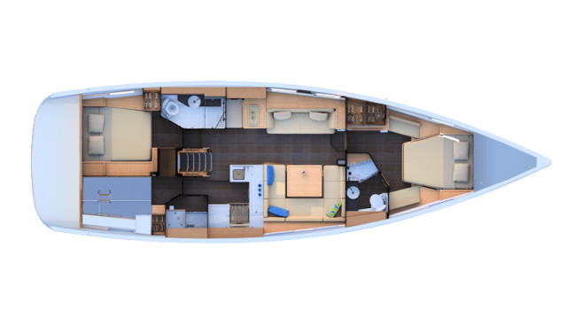 trend-travel-yachting-yachtverkauf-Jeanneau Yachts-51-Grundriss-2