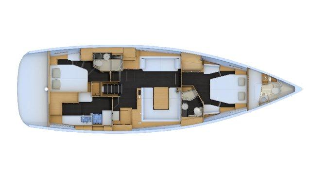 Trend Travel Yachting, Jeanneau Yacht 54. Kaufen oder Chartern beim Charterspezialist. Grundriss (4)