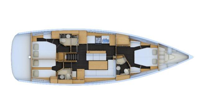 Trend Travel Yachting, Jeanneau Yacht 54. Kaufen oder Chartern beim Charterspezialist. Grundriss (2)