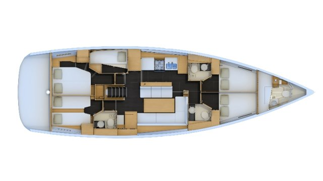 Trend Travel Yachting, Jeanneau Yacht 54. Kaufen oder Chartern beim Charterspezialist. Grundriss (1)