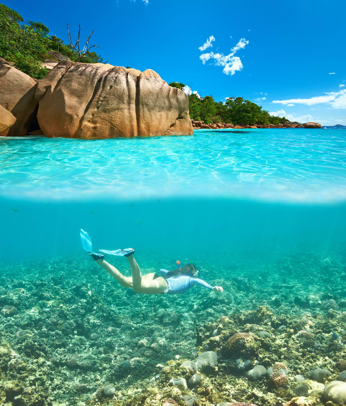 Trend travel yachting Seychellen - Snorcheln bei La Digue