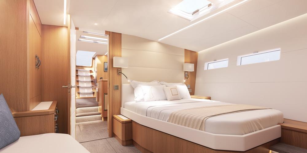 Jeanneau Yachts 60 by Trend Travel Yachting Eignerkabine Bug