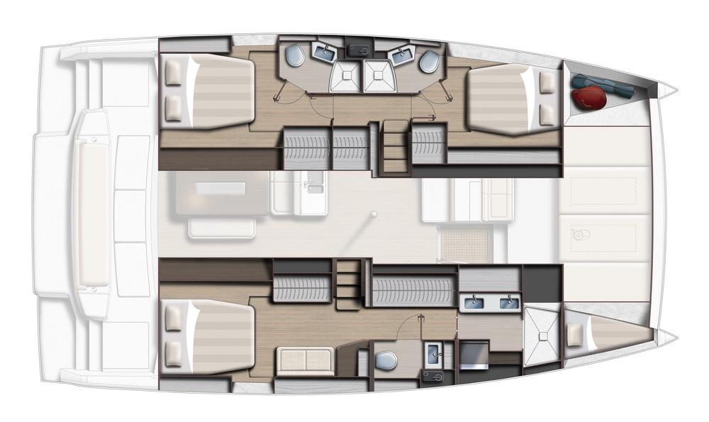 BALI 4.6 by Trend Travel Yachting 3 Kabinen Eignerversion