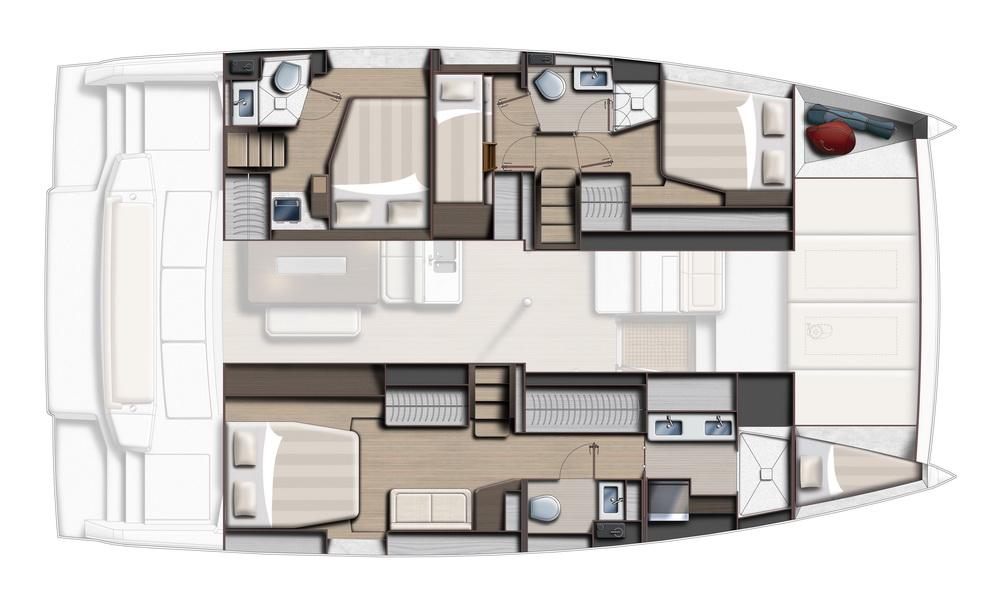 BALI 4.6 by Trend Travel Yachting 4 Kabinen Eignerversion