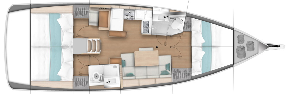 Sun-Odyssey-440-Grundriss Gebrauchtyacht Trend Travel Yachting