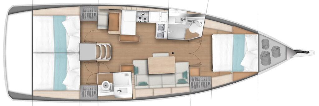 Sun Odyssey 440 Eignerversion 3 Kabinen von Trend Travel Yachting