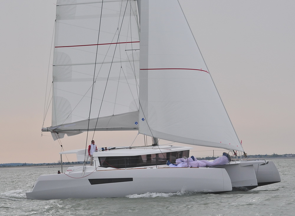 Neel 47 Malta Trimaran Yacht Charter by Trend Travel Yachting